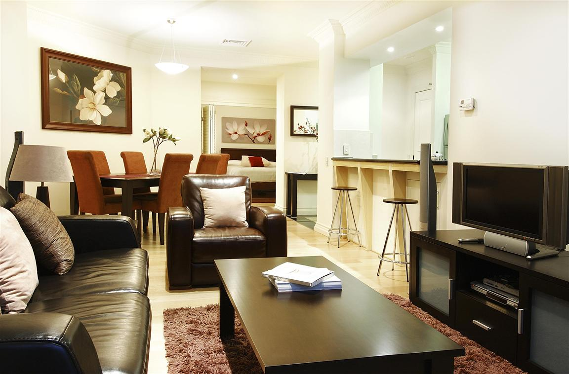 Lounge & Dining Areas- 1 Bedroom Apartment